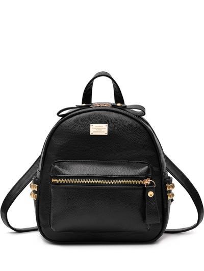 Metal Rivets PU Leather Backpack