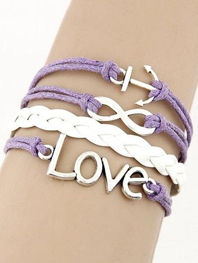 Love Anchor Braided Bracelet