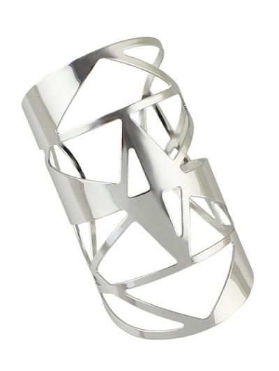 Geometric Hollow Out Cuff Bracelet