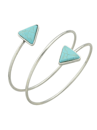 Faux Turquoise Triangle Arm Chain