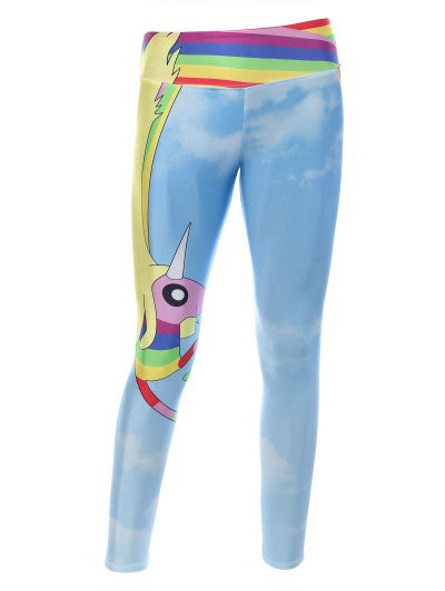 Adventure Time Print Skinny Gym Leggings