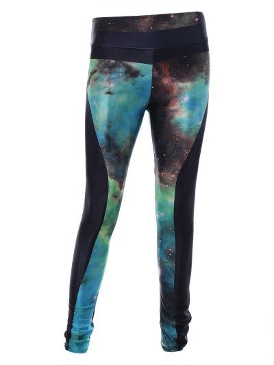 3D Starry Sky Print Skinny Sporty Leggings