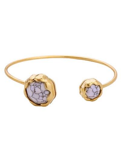 Faux Stone Cuff Bracelet