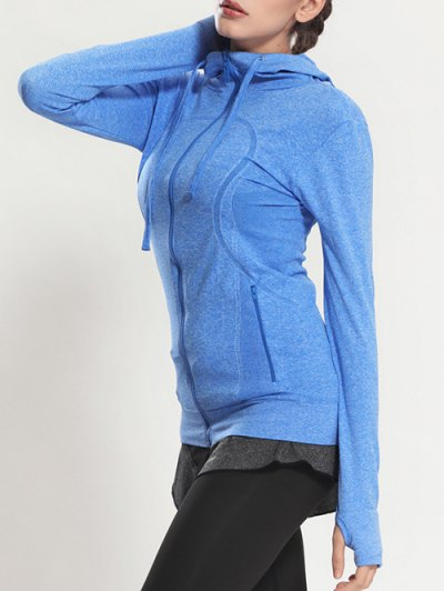 Quick Dry Hooded Sporty Coat