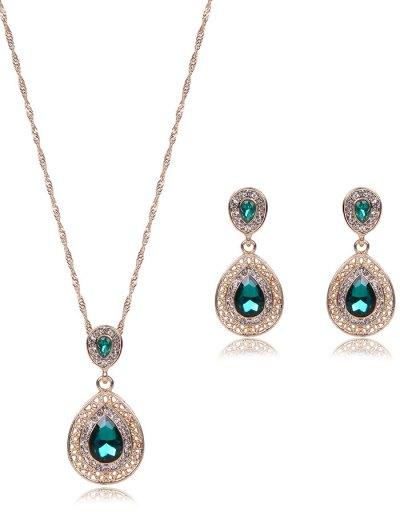 Faux Gem Teardrop Jewelry Set