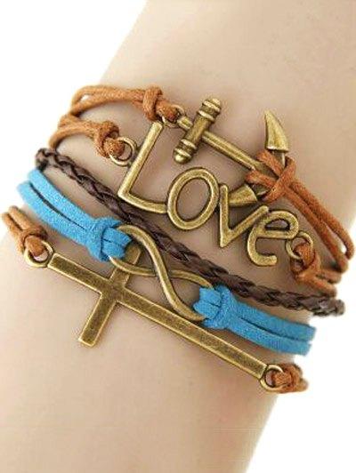 Cross Anchor Braided Bracelet