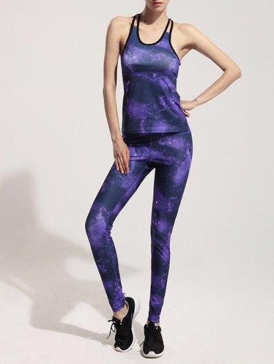 Galaxy Print Stretchy Yoga Leggings