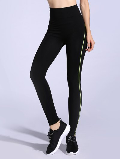 Contrast Trim Stretchy Leggings
