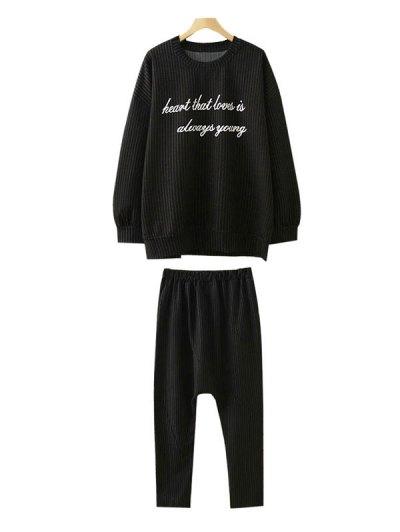 Plus Size Sweatshirt and Pants