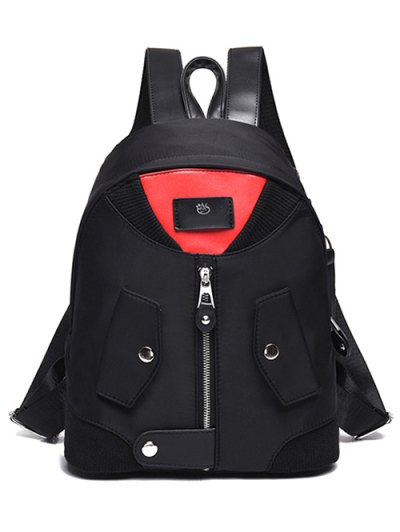 Nylon Colour Block Backpack