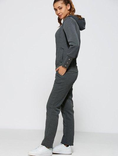 Zipper Hoodie Pants