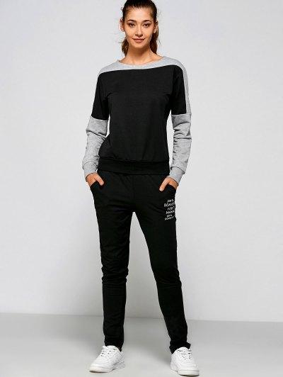 Print Sweatshirt Pants