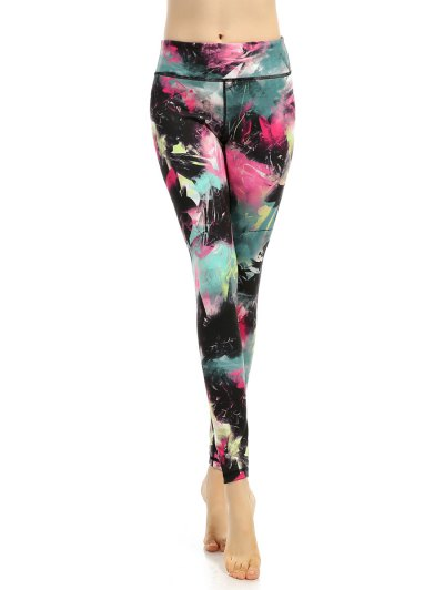 High Stretchy Multicolor Printed Leggings