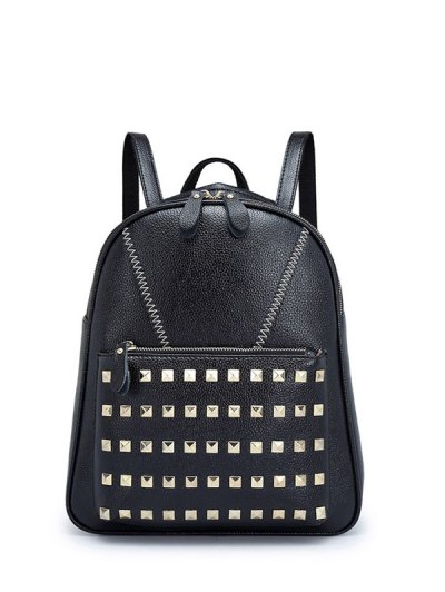 PU Leather Studded Backpack
