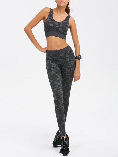 Camouflage Bra With Yoga Leggings