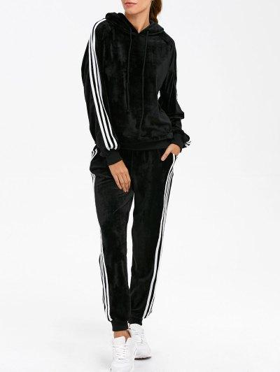Sporty Velvet Hoodie and Sweatpants