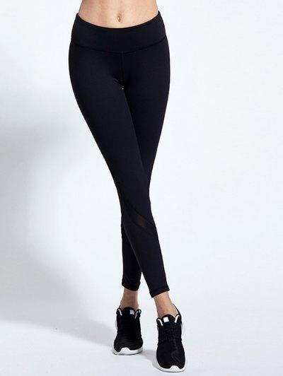 Mesh Spliced Skinny Tight Leggings