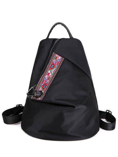 Embroidery Zipper Backpack