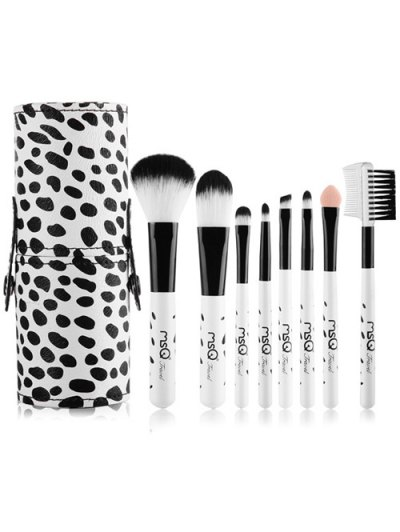 8 Pcs Daily Cow Makeup Brushes Set With Brush Holder