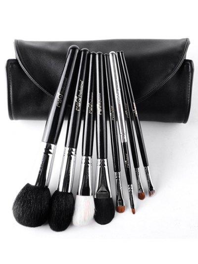 8 Pcs Animal Hair Makeup Brushes Set With Brush Bag