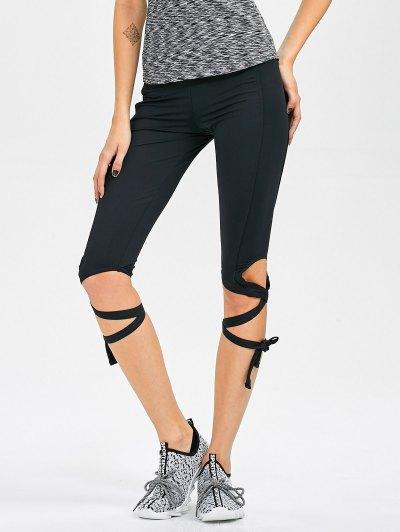 Skinny Cut Out Bandage Yoga Leggings