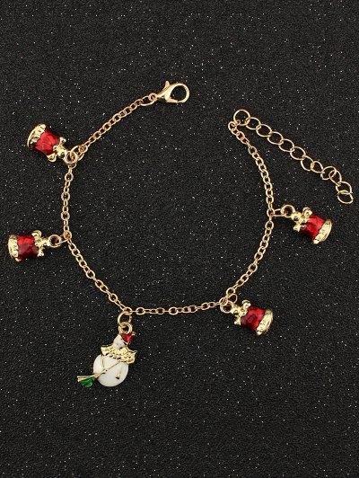 Christmas Bells Snowman Charm Bracelet
