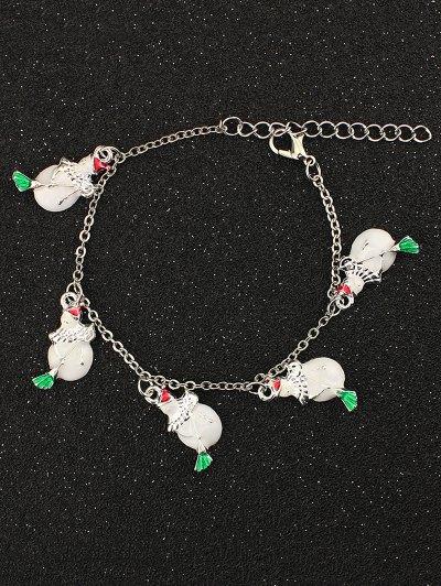 Snowman Christmas Charm Bracelet