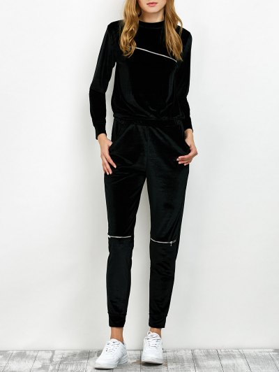 Sweatshirt and Pants with Zipper