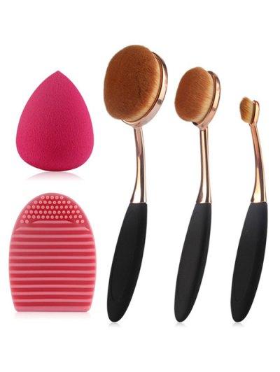 3 Pcs Toothbrush Shape Makeup Brushes Set Teardrop Beauty Blender Brush Egg
