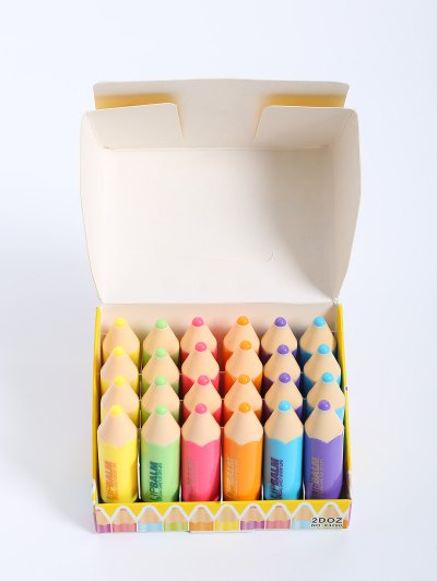 24 Pcs Crayon Shape Lip Balms