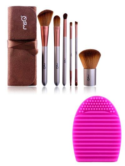 6 pcs Makeup Brushes Kit Brush Egg