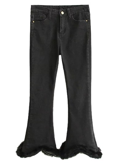 Fuzzy Ninth High Waisted Flare Jeans