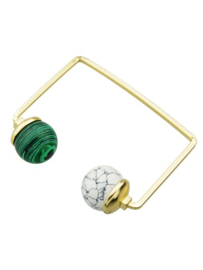 Faux Gem Ball Cuff Bracelet