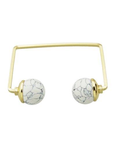 Faux Gem Ball Cuff Bracelet