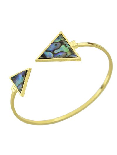 Faux Gem Triangle Cuff Bracelet
