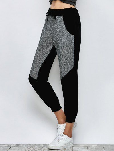 Heathered Color Block Jogger Pants