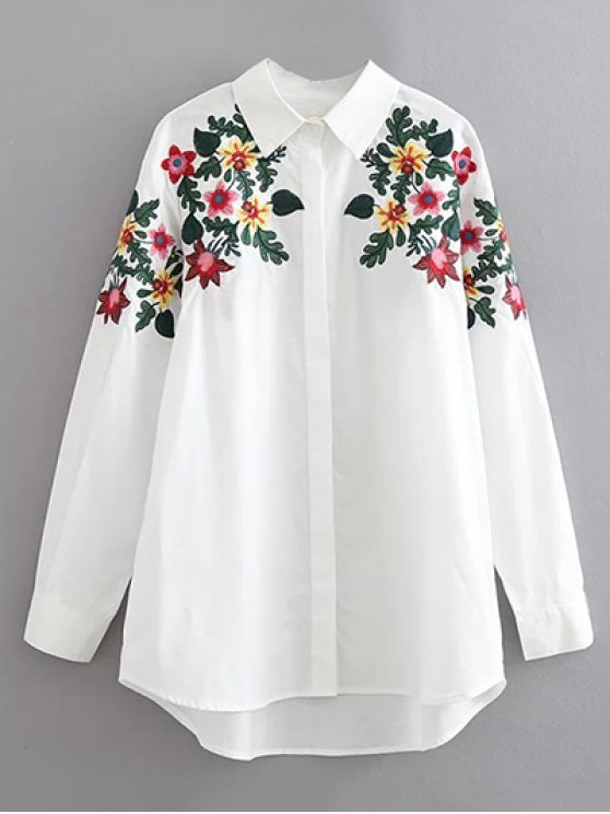 Resultado de imagen de COTTON SHIRT WITH EMBROIDERIES