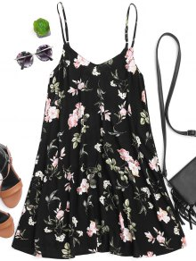 Floral Slip Tunic Mini Dress