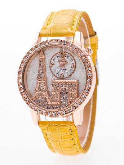 Eiffel Tower Triumphal Arch Rhinestone Watch