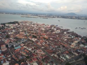 Aerial picture of George Town, Penang, from Komtar