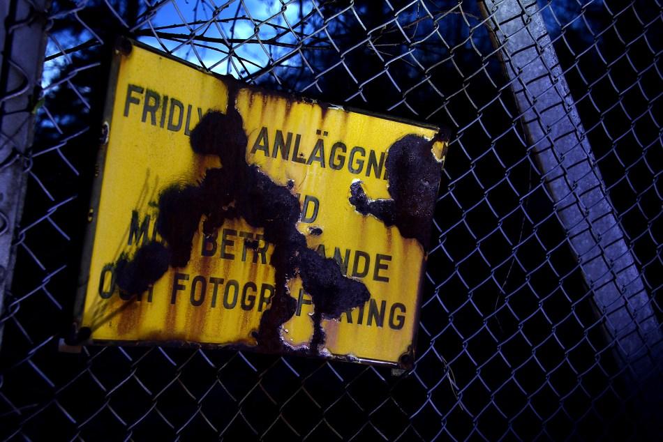 Fotoförbud Tillträdesförbud Bergrum