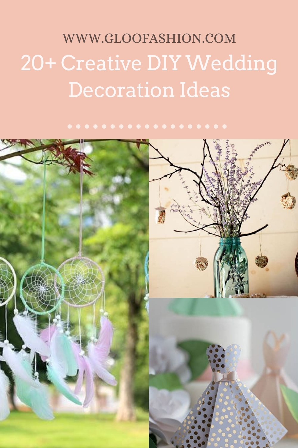 20+ Creative DIY Wedding Decoration Ideas