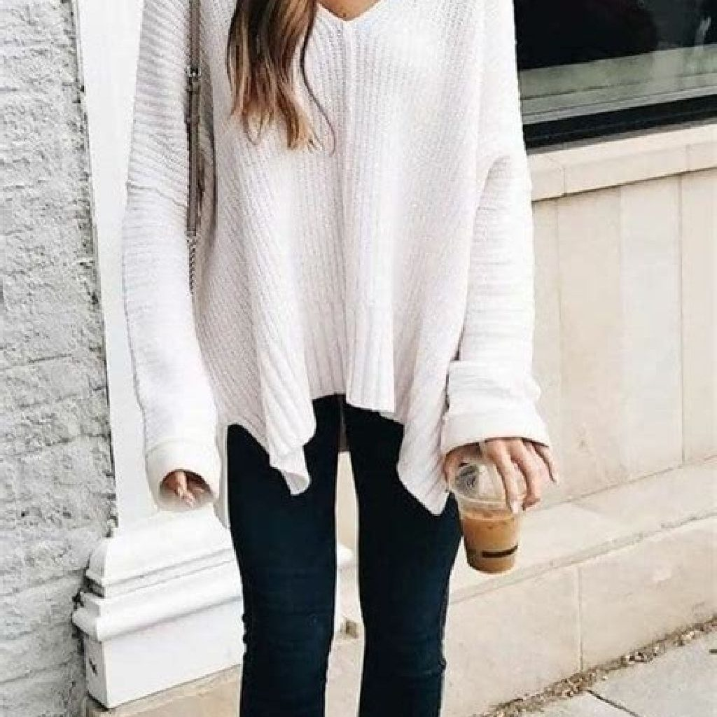 Chic Sweater Combination Ideas Suitable For Fall And Winter 03