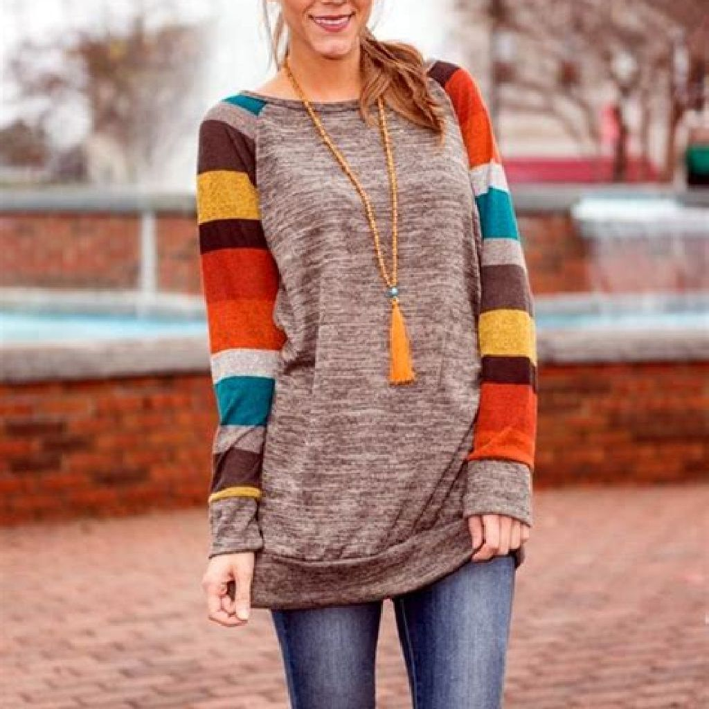 Chic Sweater Combination Ideas Suitable For Fall And Winter 13
