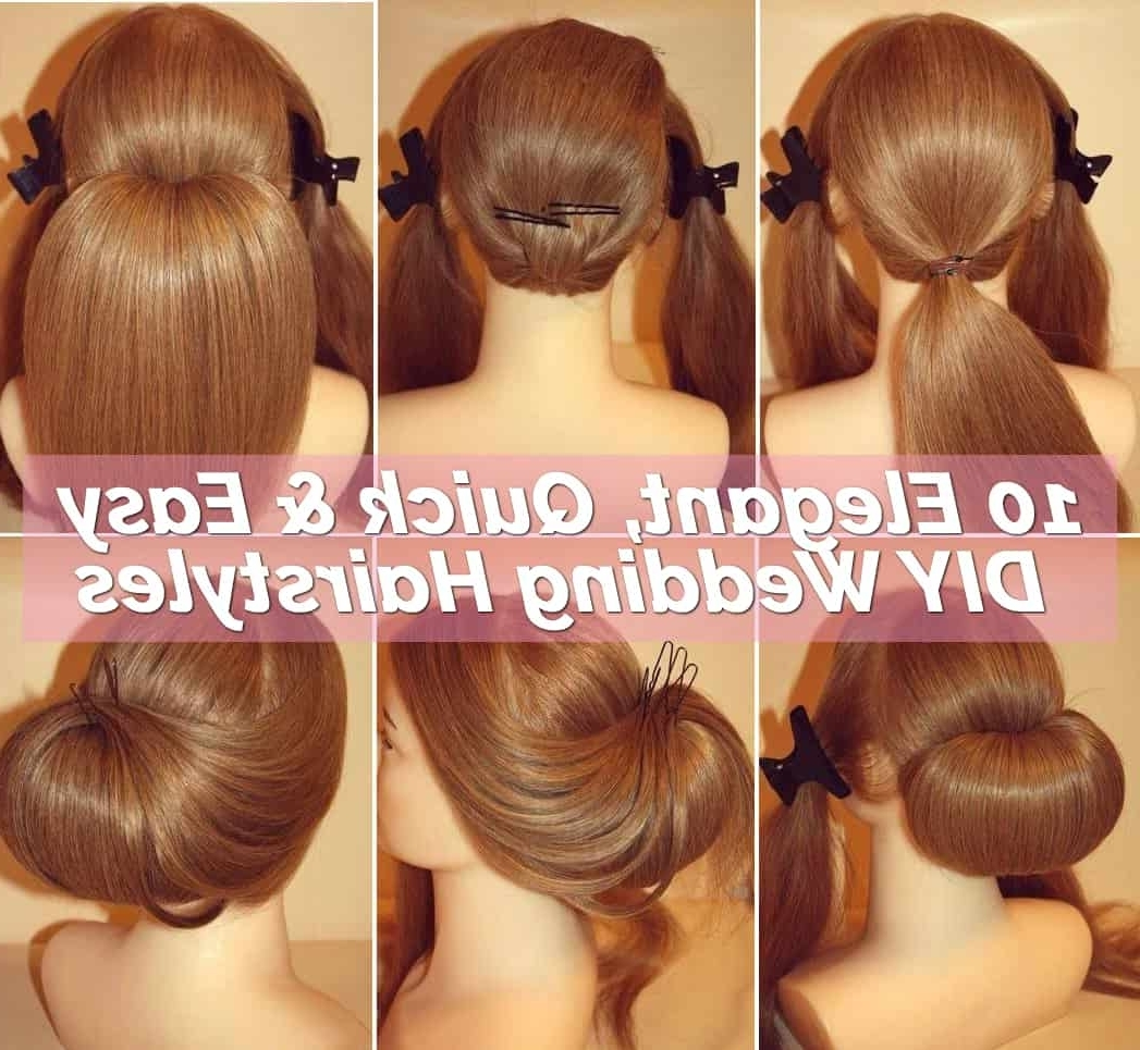 10 Easy Elegant Wedding Hairstyles That You Can Diy The Diy Wedding Hairstyles For Medium Hair