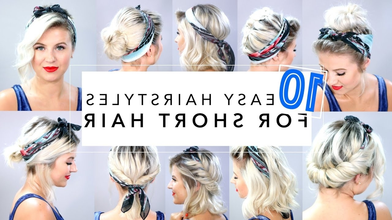 10 Easy Hairstyles For Short Hair With Headband | Milabu 30+ Stunning Medium Hairstyles With Headbands