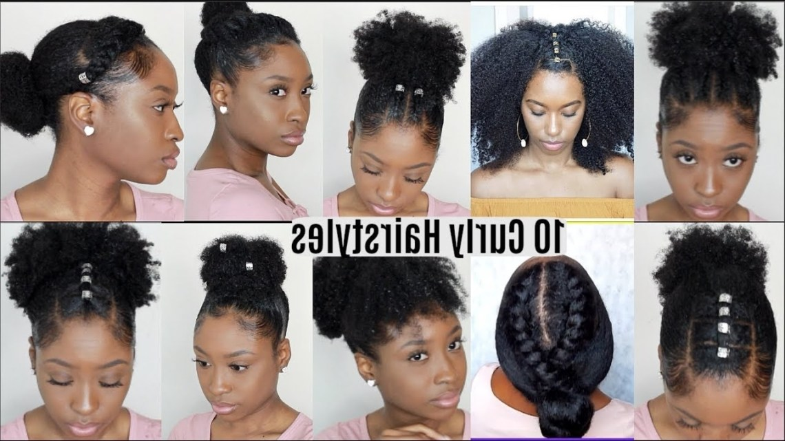 10 Quick Easy Hairstyles For Natural Curly Hair | Instagram Inspired Hairstyles 40+ Awesome Hairstyles For Naturally Curly Hair Medium Length Black Girl
