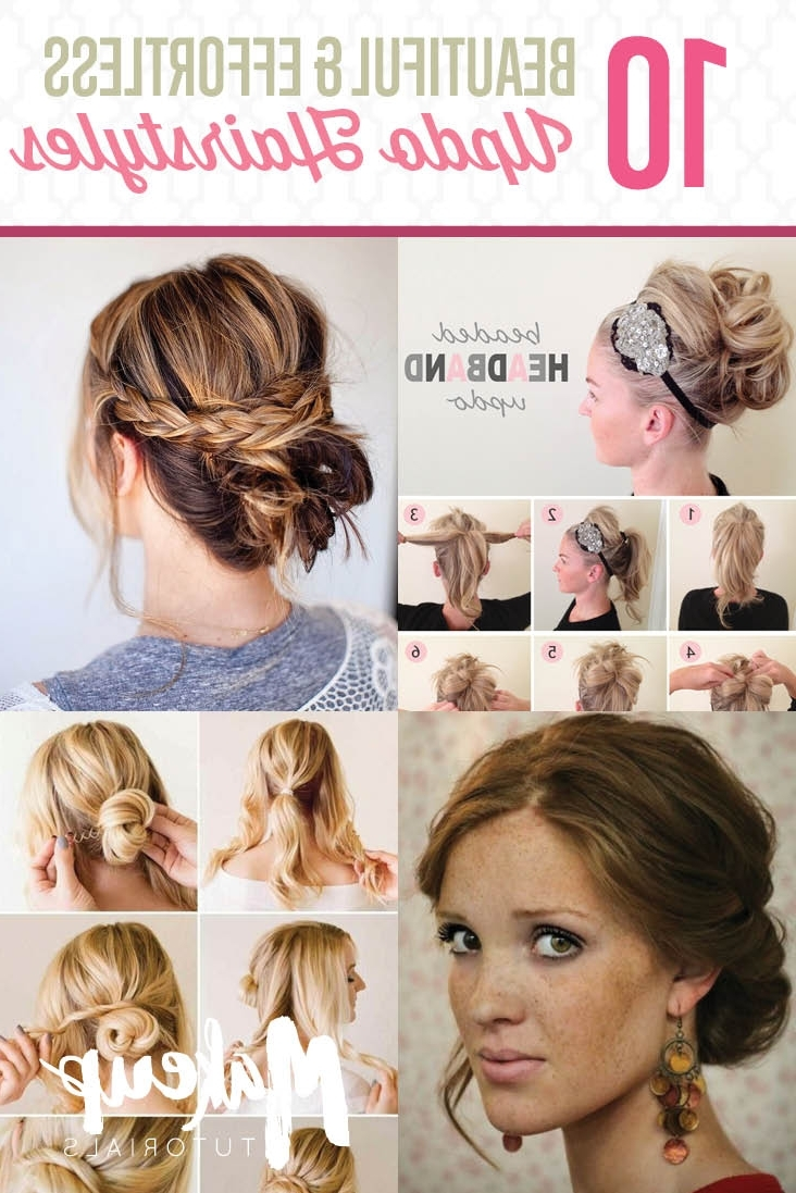 10 Updo Hairstyle Tutorials For Medium Length Hair The Medium Updo Hairstyles For Women