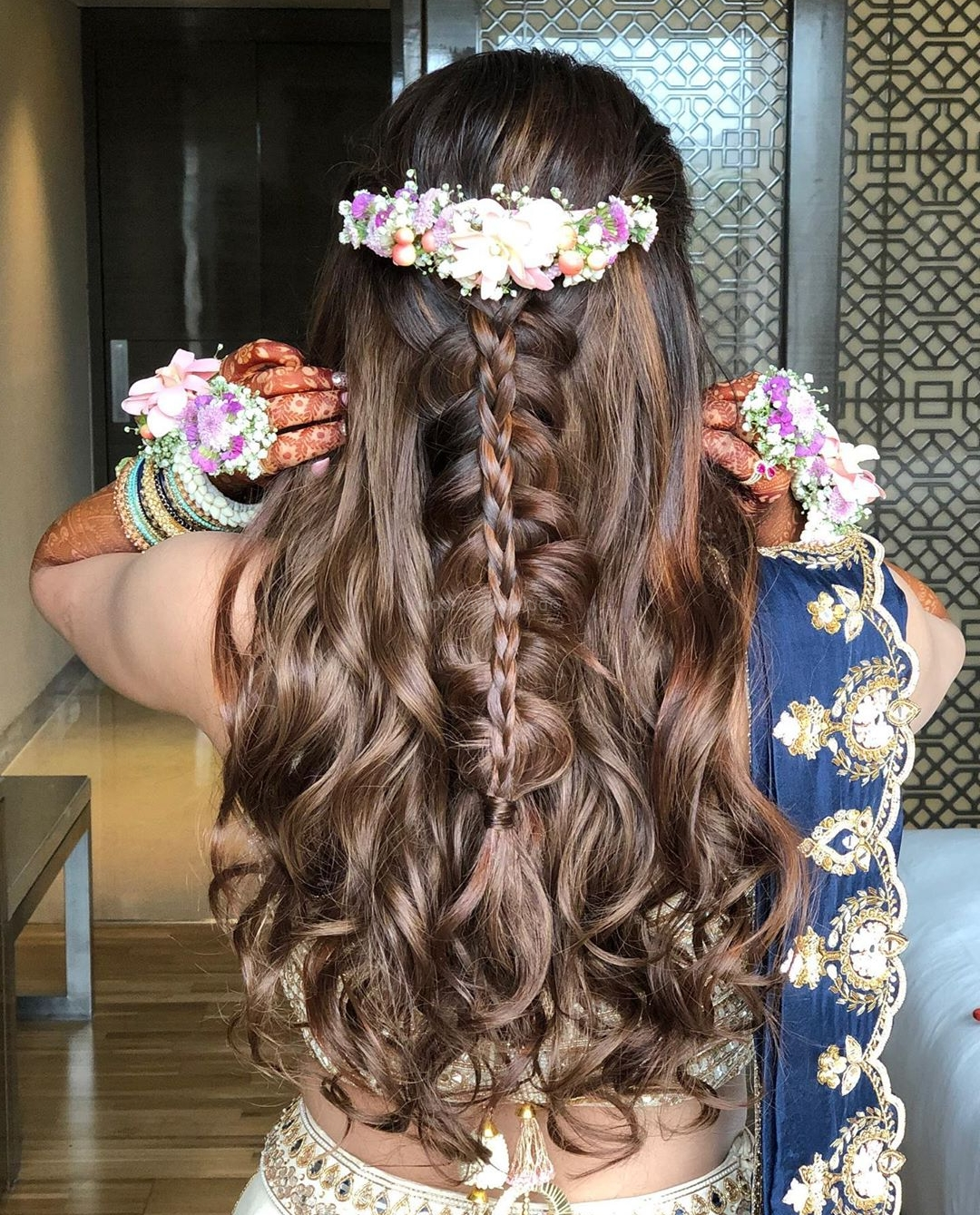 100 Most Stunning Indian Brides That Set Indian Wedding 30+ Amazing Indian Curly Hairstyles For Medium Length Hair