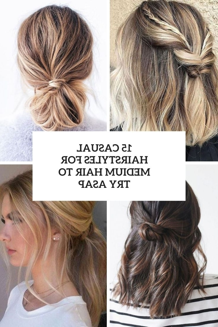 15 Casual Hairstyles For Medium Hair To Try Asap Styleoholic Everyday Hairstyles For Medium Wavy Hair